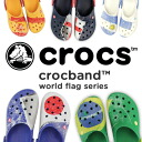 Extreme popularity model crocband of the clocks that the national flag of each country became the motif! Slip-ons sandals ARGENTINA BRAZIL GERMANY ITALY JAPAN SPAIN USA ENGLAND ◆ crocs (clocks) crocband world flag made by a cross light