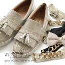 4WAY change enamel loafer slip-ons