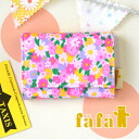 Pocket multicast with original fabric, dirt and water strong laminate coating. To put business cards please ◎ card put the card case pouch PINK 6443-0006 ◆ fafa ( fe'ee ) :LYNSEY laminated card case [Cosmos Flower/Pink]
