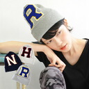 In a street style? In an old school style? The knit hat which big Sagara embroidery emblem excellent at presence stuck to in large quantities! 100% of ニットワッチニット hat cotton lady's ◆ stadium emblem knit cap