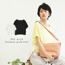 Cool Boyle work casual finished with ribbed neckline pullover blouse ladies Short Sleeve Tops simple plain gauze shirt ◆ ☆ events during ☆ ribbed neckline dormanshatspur over