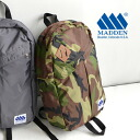 Classic daypack design simple but eye-catching. Combines light weight and durable 420 denier nylon Pack cloth use Backpack Rucksack men and women cum for women's men's bags bag ◆ MADDEN ( meden ) DAN's PACK