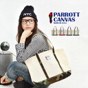 Thick canvas x superior strength Cordura nylon tote bag. Men and women and for women's men's canvas bag medium that 11 - 09 - 14NFW ◆ PARROTT CANVAS (Parrot tarp) MEDIUM TOTE BAG [NAT CANVAS×CORDURA]