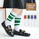 Entering single color line! Large up-and-coming line socks! Regular socks ◆ CAROLINA SOCKS (calorina socks) line socks [one color] for full-scale sporty design of MADE IN U.S.A and women for feel of a material ◎ socks Lady's men man and woman combined us