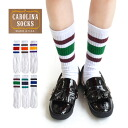 Entering two colors of lines! Large up-and-coming line socks! Regular socks ◆ CAROLINA SOCKS (calorina socks) line socks [by color] for full-scale sporty design of MADE IN U.S.A and women for feel of a material ◎ socks Lady's men man and woman combined u