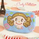 Canvas material increases the texture as a miniport. Popular ginger CHAN's with badges! To put small make-up tools, cards, loose change: ◆ Curly Collection (Kali collection): patch canvas pouch S [ginger x light blue]