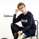 Solid wall thickness, and excellent elasticity. Pullover sweat material stretch polyurethane mix! Japan-made suet fleece women's long sleeve winter ◆ DUBBLE WORKS ( doubleworks ) stretch sweet logo trainer