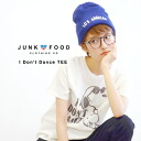 Everyone loves Snoopy used style Tee. Petite Women deploy recommended 4 size! Parent and child matching also OK! Short sleeve made in USA MADE IN U.S.A sewn anime ◆ Junk Food (junk food) SNOOPY I don't Dance T shirt [ladies]