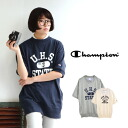 Logo print with slightly became a cocoon, deformation trainer women's casual sporty casual women's WOMEN short sleeve T shirt shirt tunic sweatshirts spring summer spring ◆ CHAMPION (champion) CREW NECK SWEATSHIRT CW-F005