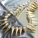 In the small togetge a little hard on! Accessories ' Croton and ' when you want to add ♪ glittering in the chain with Bijou! Women's studded party parties 3 dress gold ◆ Zootie ( SETI ): Spike cones x rhinestone neckl...