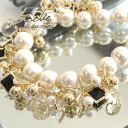 Design and faux Pearl and Bijou! also sees big impact 大buri necklace! Accessories Pearl Necklace large Crystal party wedding parties 3 dress ◆ Zootie ( SETI ): juelperlnecklace
