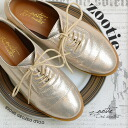 A more formal impression straight chip ōtoba root design, ON casual. Lace-up shoes Womens shoes low heel loafers metallic leather mens like exotic ◆ zootie ( SETI ): Gold & Croc Oxford shoes