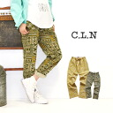 General natural pants trendy fun cinciletto: feel the natural texture unique to natural material cotton-linen! women's festivals pants long pants ◆ C.L.N(sea Ellen): ☆ in events ☆ cotton linen ethnic print-relaxed pants