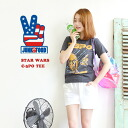 M/L/XL/2 XL Star Wars used style characters T. Petite Women expanded size 4 recommended! Women's tops sewn short sleeve thin vintage style American comic parent-child pair import spring summer ◆ Junk Food (junk food) STAR WARS C-3PO T shirt [ladies]