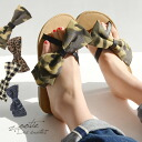 Like legs wrapped I like! Materials and patterns of use not too sweet big Ribbon a little grown-up atmosphere. Ladies women's shoes with camouflage Leopard pattern animal flip flop flat Sandals summer ◆ zootie (SETI):BIG Ribbon Cross strap sandals