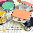 Mirror with glove compartment with colorful leather. Put false eyelashes, medication and accessories perfect for ♪ fashionable pressed type logo! Women's leather accessories made in Japan carry accessories case ◆ cheer (cheer): mignonne leather case