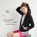 저지 스타일의 스포티 한 디자인이 올해 듯하다, 땀 파커! 여성용 겉 옷 보더 라이트 아우터 무지 얇은 뒷 머리 ◆ zootie (ズーティー): 스포티 라인 리브 스웨터 집 업 후드