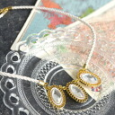 Natural x impact. Cutting by scheduling large accent necklace in white rope. Women's accessories gold chain Crystal white Marin Women's accessory ◆ Alma Overby Jeux rope necklace