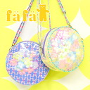 Vinyl in artificial confines, rabbit pattern Pochette. Resistant to water and dirt round shoulder bag! • ladies kids makeup to multi purpose pouch pouch make Purch pink 6153-0025 ◆ Pochette fafa (fe'ee):MARCELA alohapeaceround [B]
