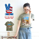 Snoopy tear M/L/XL/2 X! Petite Women recommended 4 size deployment used style tops women's sewn clothes wind AME-COMI import parent pair parent/child pair ◆ Junk Food (junk food) HIT THE ROAD SNOOPY t-shirt [ladies]