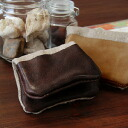 The business card case that a natural design is stylish! Item ◆ leather linen canvas card case with full of a feeling of craft that taste is reflected on so that cowhide and linen embezzle it