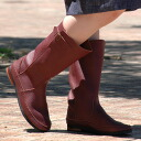 "--Authentic hand-made boots by using high-quality Buffalo leather, exquisite belt accent from ""Diu""! Soft comfort becomes a peculiar sense of craft leather style simple boots / spring boots ◆ Diu: boots leather belt"
