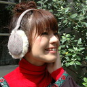 The warmth from the ear! The ear warmer ◆ tweed dot ear muff that colorful polka dots are cute