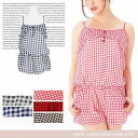 Checked pattern chiffon with frill