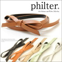 ◆philter!! 細 belt / ribbon /FAKE leather / accessories Lady's with the ribbon