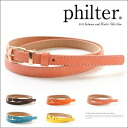◆philterFAKE leather stitch 細 belt /FAKE leather / stitch / belt / accessories Lady's