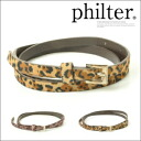 ★ レオパード pattern ナローベルト / panther pattern / animal / suede in the fall and winter latest philter