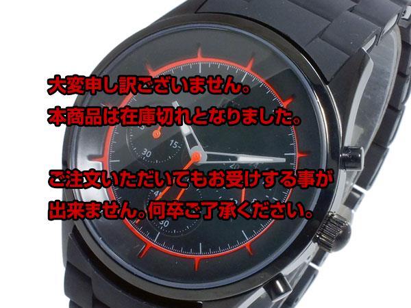 レビュー投稿で次回使える2000円クーポン全員にプレゼント 直送 ヌーティッド NUTID CRATER クオーツ メンズ クロノ 腕時計 N-1404P-B BK/OR 【腕時計 国内正規品】