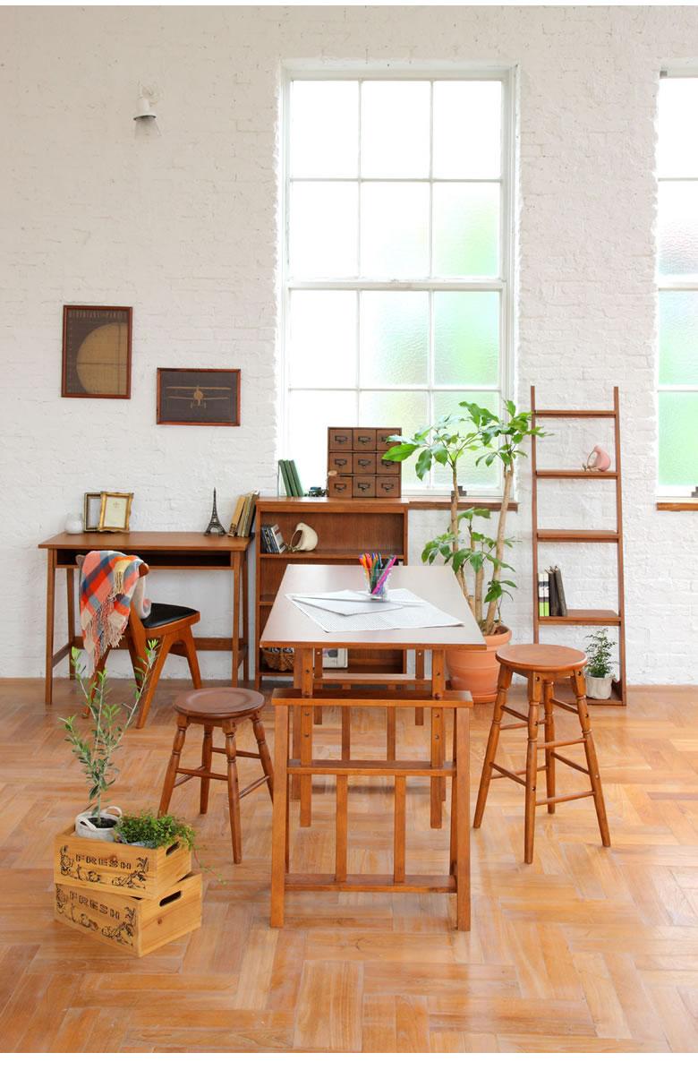 椅子 コンパクト シンプル 合成皮革 天然木
