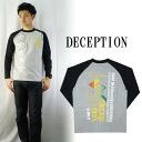 DECEPTION 도저히 프린트 긴 소매 라 글란 티셔츠 「 NO9 」