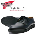 "REDWING Red Wing Shoes postman Postman Oxford Black Black ""Chaparral"" Style No.101"