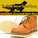 "REDWING Red Wing IRISH SETTER Irish setter canoumock work boots 6 ""CANOE MOC gold set Sequoia Gold-Russet reprint dog tag Style No.9850"