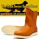 "REDWING Red Wing IRISH SETTER Irish setter Pecos boots 9 ""PECOS GOLD gold la set Sequoia reprint dog tag Style No.9866"