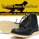 """REDWING Red Wing IRISH SETTER Irish setter boots classical 6 """"ROUND TOE BLACK black Crown Dick reprint dog tag Style No.9870"""