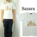 SAZARA サザラ 필기 화 무늬 프린트 티셔츠
