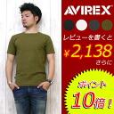 AVIREX アビレックス アヴィレックス 크루 넥 반 소매 T 셔츠 데일리 웨어 시리즈 6143502