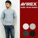 AVIREX アビレックス アヴィレックス V 넥 긴 소매 T 셔츠 데일리 웨어 617394