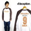 DECEPTION 도저히 박 프린트 긴 소매 라 글란 티셔츠 「 SURFDAYS 」