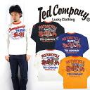 텟드만텟드만즈 TEDMAN'S발염 프린트 긴소매 T셔츠 「MOTORCYCLE RACES」