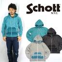 Shot Schott native motif ジップアップフーディースウェット (Parker)