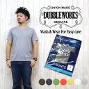 더블 워크스 DUBBLE WORKS T셔츠 반소매 V넥 33009 무지 Tee