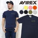 AVIREX 아비렉스아비렉스 T셔츠 컷소우 반소매 파티그포켓트 6123036