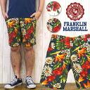 프랭클린 마샬 FRANKLIN&MARSHALL 하프 팬츠 바로 반바지 인쇄 열 옷 무늬 슬림 핏 39181-2059 ※ 세일 가격에 대하여 반품 ・ 교환 불가