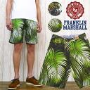 프랭클린 마셜 FRANKLIN&MARSHALL 하프 팬츠 쇼트 쇼츠 프린트 트로피컬 옷 무늬 슬림 피트39181-2057※세일 가격에 대해 반품・교환 불가