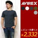 AVIREX アビレックス アヴィレックス 헨리 넥 반 소매 T 셔츠 데일리 웨어 시리즈 6143504