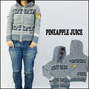 Pineapple Juice 파인애플 주스 니트 (스웨터) 풀 지퍼 후드 XS